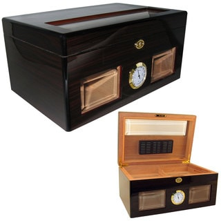Cuban Crafters Bravo Negro Glass-top 120-cigar Humidor