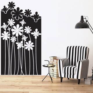 Style and Apply 'Flower Forest' Mural Vinyl Wall Decal and Sticker