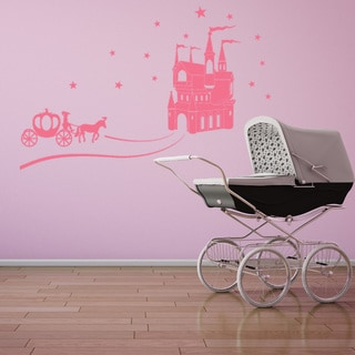 Cinderella Fairy Tale Castle Vinyl Wall Art Decal