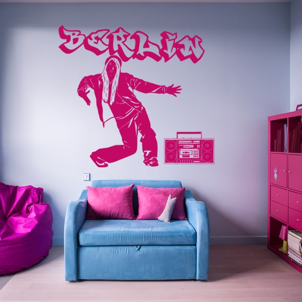 Style & Apply Hip Hop Girl Vinyl Sticker Wall Decal Art Home Decor