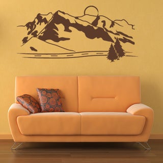 Style and Apply Mountains Mural Vinyl Wall Decal and Sticker
