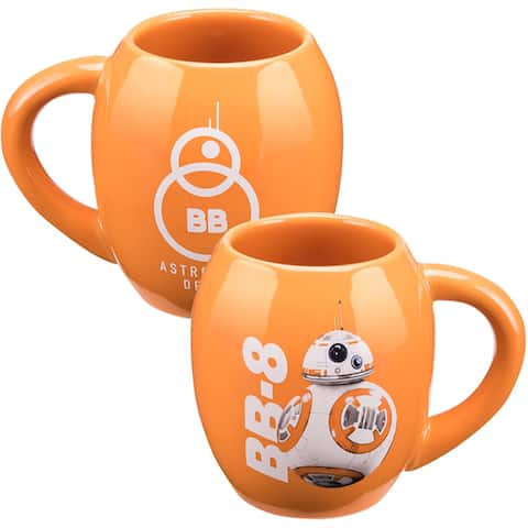 Star Wars Episode VII BB-8 Orange Ceramic 18-ounce Oval Mug