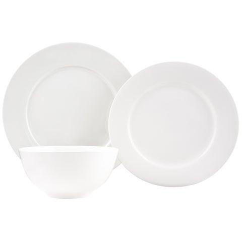 Pure Vanilla Bone China 18-Piece Dinner Set