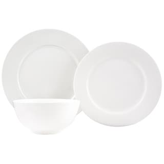 Pure Vanilla Bone China 18-Piece Dinner Set  sc 1 st  Overstock : dinner plate chinaware - pezcame.com