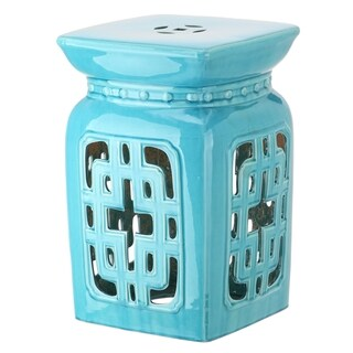 Safavieh Beijing Filigree Light Blue Garden Stool