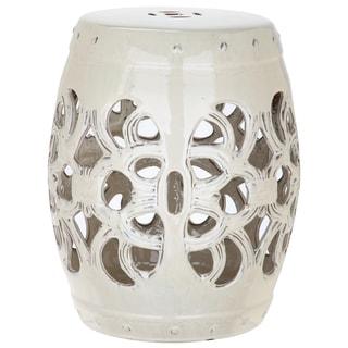 Safavieh Imperial Vine Cream Ceramic Decorative Garden Stool