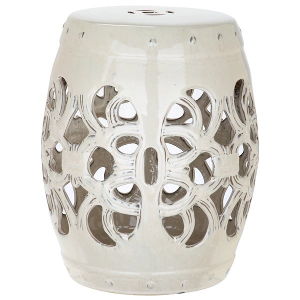 Shop Safavieh Imperial Vine Cream Garden Stool On Sale