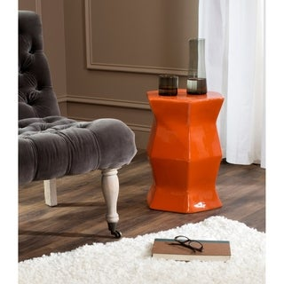 Safavieh Modern Hexagon Orange Garden Stool