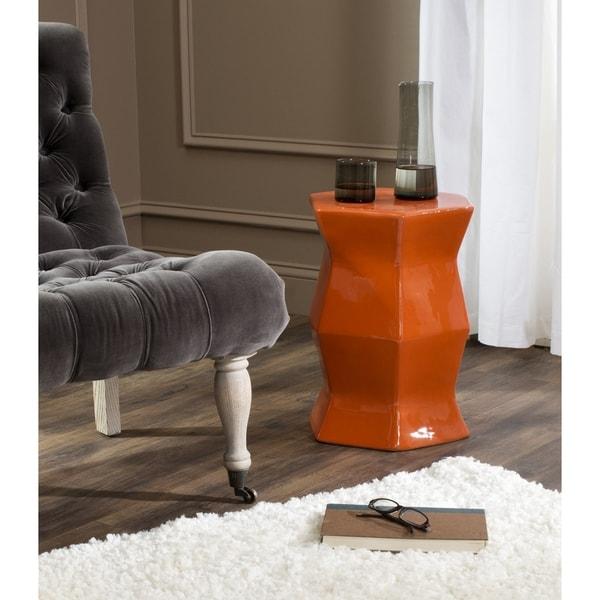 Safavieh Modern Hexagon Orange Garden Stool