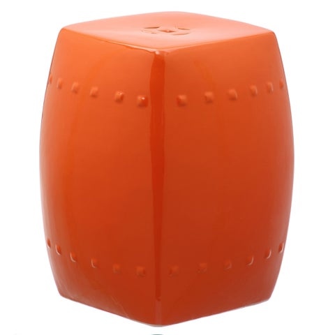 Safavieh Villa Orange Garden Stool
