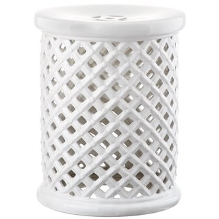 Safavieh Isola White Garden Stool