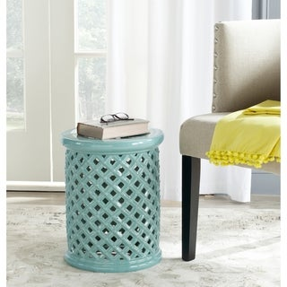 Safavieh Isola Light Blue Garden Stool