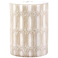 Safavieh Melody Cream Garden Stool - 12 x 12 x 16