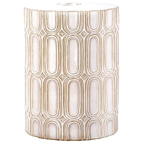Safavieh Melody Cream Ceramic Decorative Garden Stool