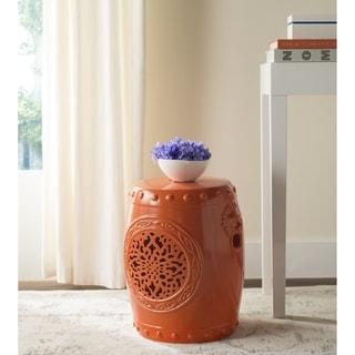 Safavieh Flower Drum Orange Garden Stool