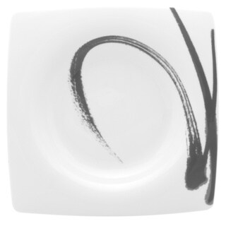 Red Vanilla 'Paint it Black' 7.75-inch Salad Plate (Set of 6)