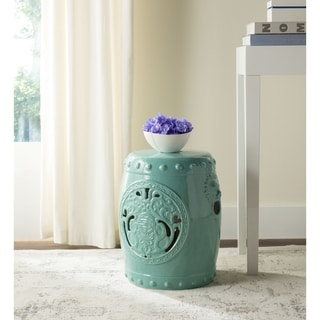 Safavieh Dragon Coin Light Blue Garden Stool