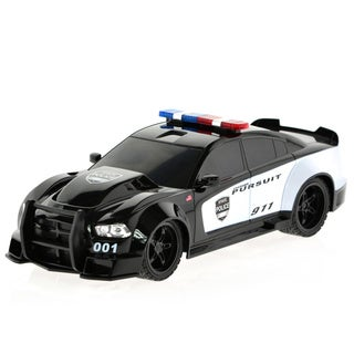 Dodge Charger RC Black Plastic Remote-controlled Police Car