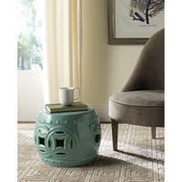Safavieh Mei Double Coin Light Blue Garden Stool