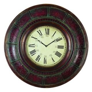 Gracewood Hollow Tantaquidgeon Brown Wood 36-inch Wall Clock