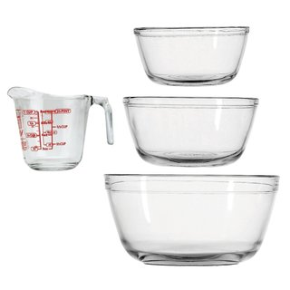 Anchor Hocking Glass 4-piece Mix and Measure Set