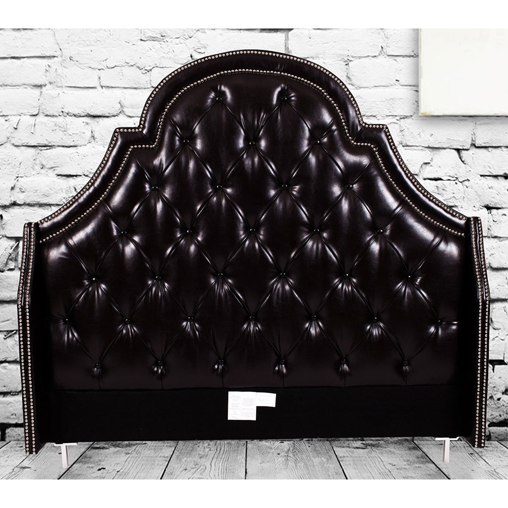 Chic Home Napoleon Bonded-leather Button-tufted with Silv...