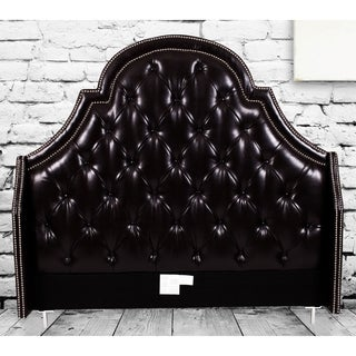 Chic Home Napoleon Bonded-leather Button-tufted with Silver Nailhead Trim Headboard