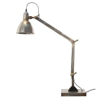 Dockyard Silvertone Metal 8-inch x 6-inch x 36-inch Table Lamp