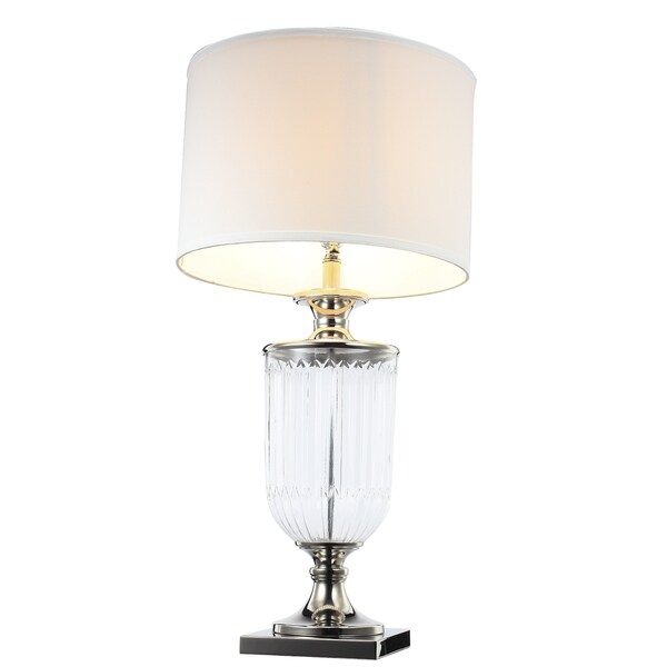 Addison Fabric/Glass 16-inch x 32.5-inch Table Lamp