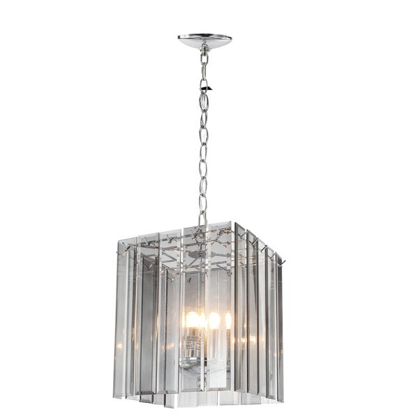 Malva Ceiling Clear Glass and Metal 10-inch x 11.5-inch Small Pendant