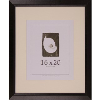 Black/Brown Wooden 16-inch x 20-inch Leather Picture Frame