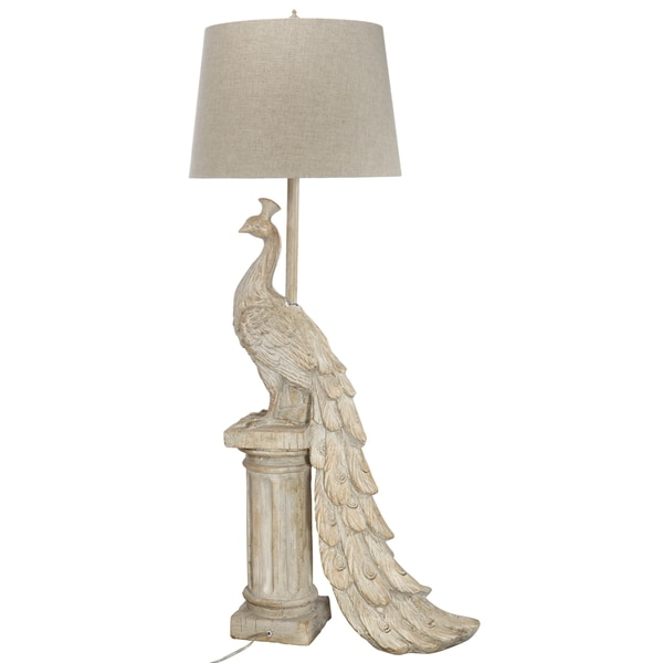 19.5-inch x 9.5-inch x 44-inch Peacock Table Lamp