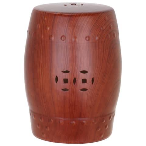 SAFAVIEH Ming Forest Red Ceramic Decorative Garden Stool