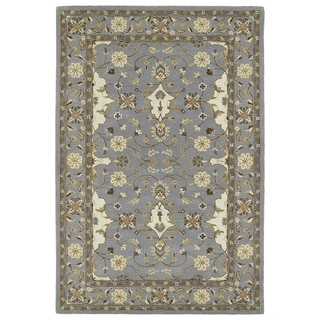 Hand-Tufted Perry Grey Wool Rug (9'0 x 12'0)
