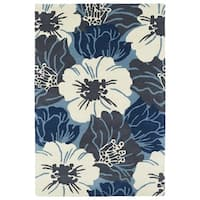 Hand-Tufted Seldon Blue Floral Rug - 9' x 12'