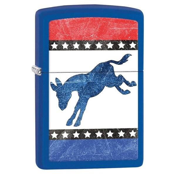 Zippo Democratic Donkey Refillable Pocket Lighter