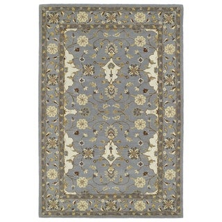 "Hand-Tufted Perry Grey Wool Rug (5'0 x 7'9"") - 5' x 7'9"""
