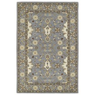 "Hand-Tufted Perry Grey Wool Rug (5' x 7'9"")"