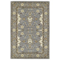 """Hand-Tufted Perry Grey Wool Rug - 5' x 7'9"""""""
