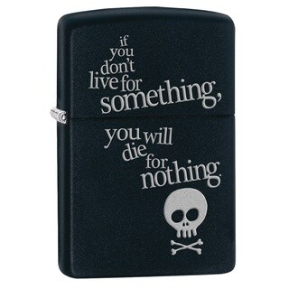 Zippo Live for Something Black Matte Pocket Lighter
