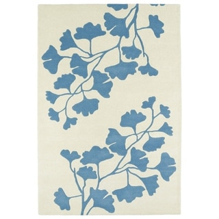 "Hand-Tufted Seldon Light Blue Shadow Rug (5'0 x 7'9"") - 5' x 7'9"""