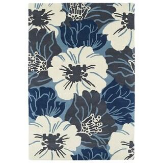 Hand-Tufted Seldon Blue Floral Rug - 2' x 3'