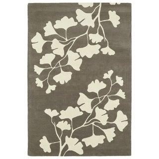 Hand-Tufted Seldon Grey Floral Shadow Rug (8' x 10')