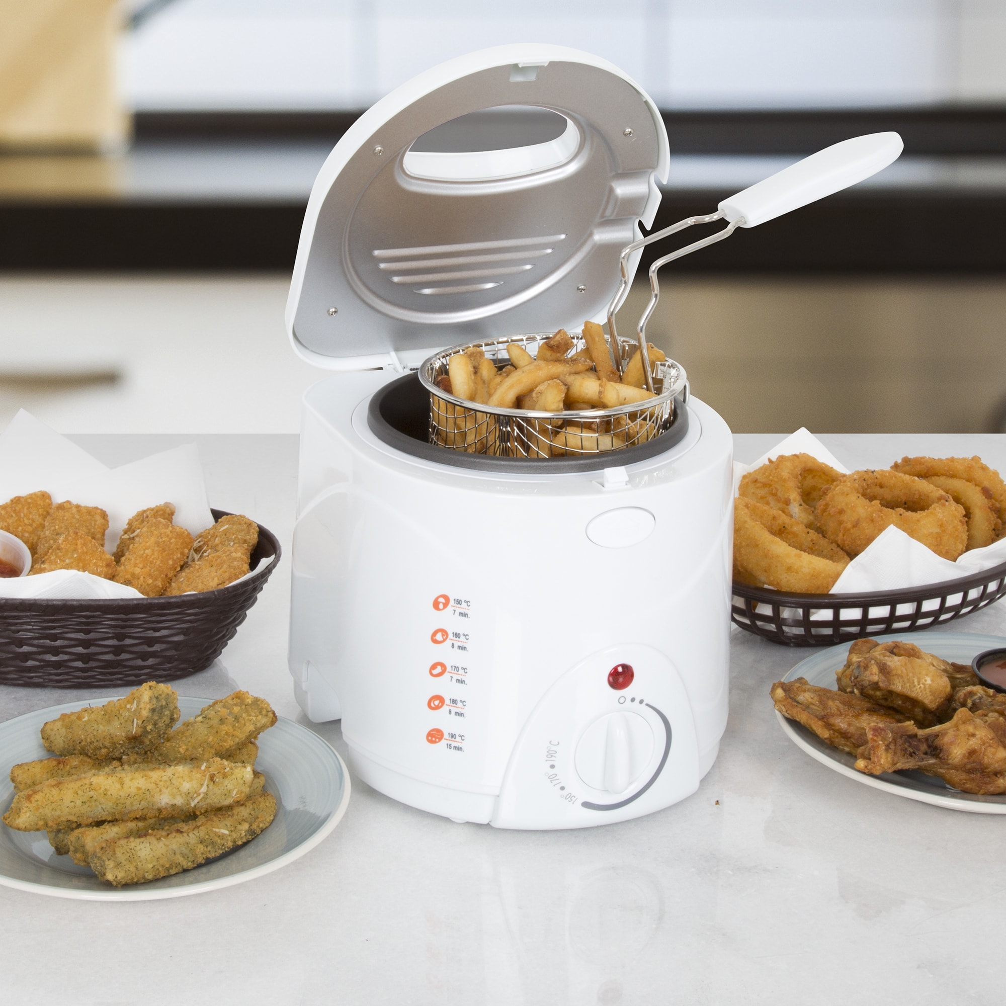 Classic Cuisine Cool Touch 1 Liter Deep Fryer with Wire F...