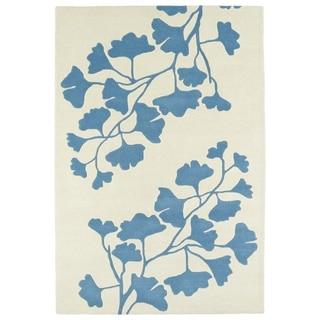 Hand-Tufted Seldon Light Blue Shadow Rug (8' x 10')