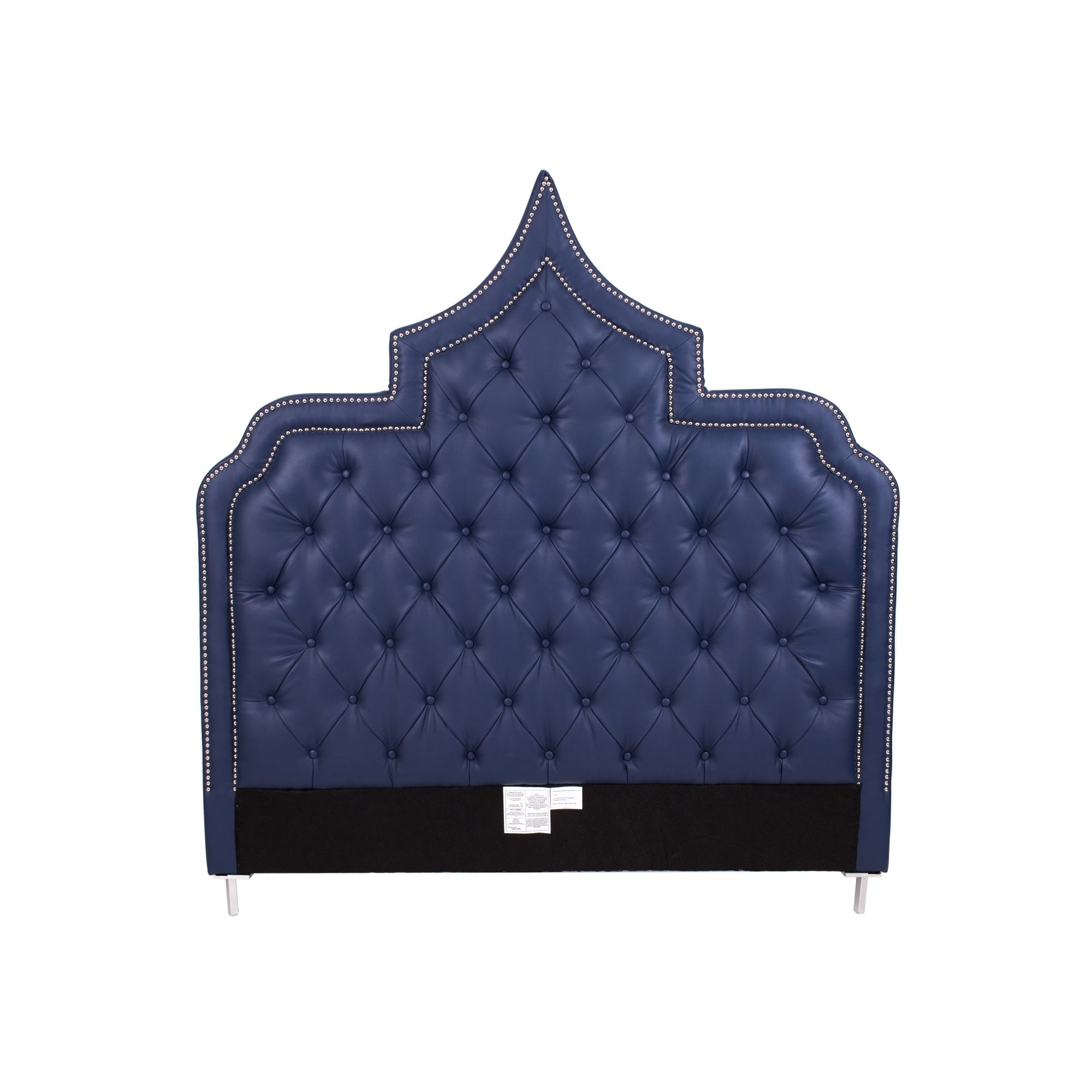 Chic Home Casablanca Navy Blue Button-tufted Bonded Leath...