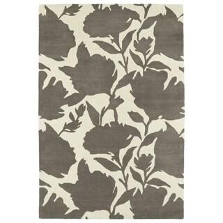 Hand-Tufted Seldon Grey Floral Shadow Rug (9'0 x 12'0)