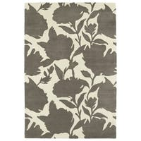 Hand-Tufted Seldon Grey Floral Shadow Rug - 8' x 10'