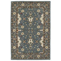 Hand-Tufted Perry Teal Wool Rug (5' x 7'9)