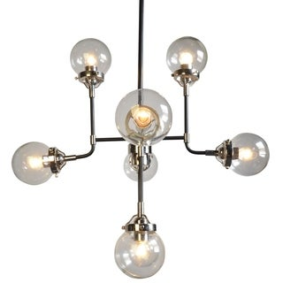 Dalinni 8-light Black Iron Chandelier with Multi-directional Lights
